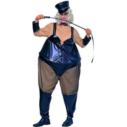 "Este disfraz que se llama ""sadomasoquista pechugona""."